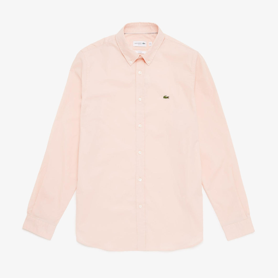 Lacoste Mens Long Sleeve Shirts Light Pink