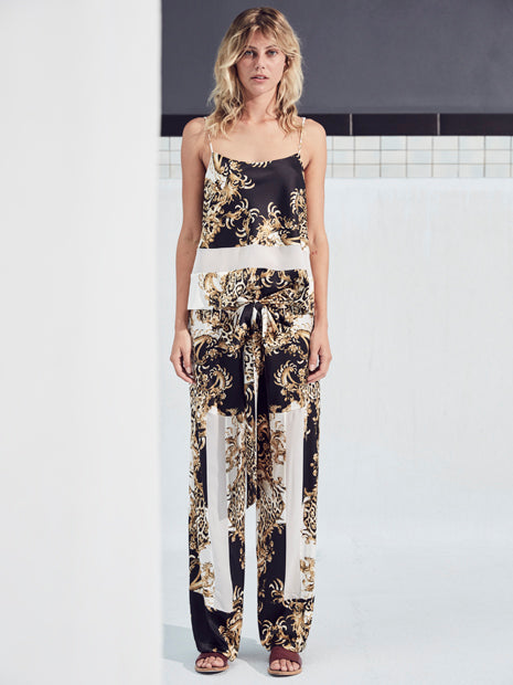 SUNRISE PALAZZO PANT in LEOPARD