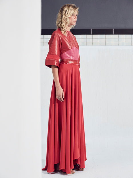 AMAZONIA MAXI DRESS in RED