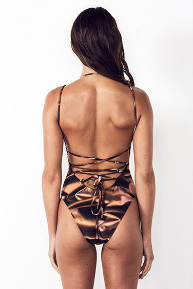 MID-MESH ONE PIECE in BRONZE