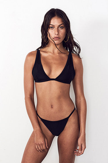 NICKEL THIN LOW BRIEF in BLACK