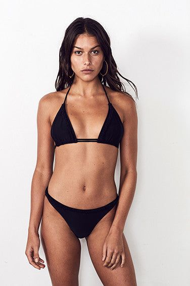 ADORNED LOW BRIEF in BLACK