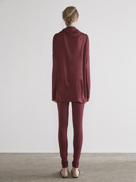 Rouge Pin Tights In Maroon