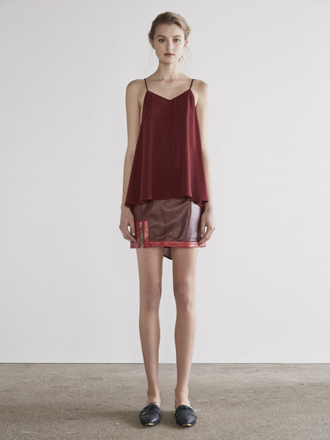 Absolute Short Top In Maroon MADE-TO-ORDER