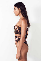 MOLTEN MESH TUBE TOP in BRONZE