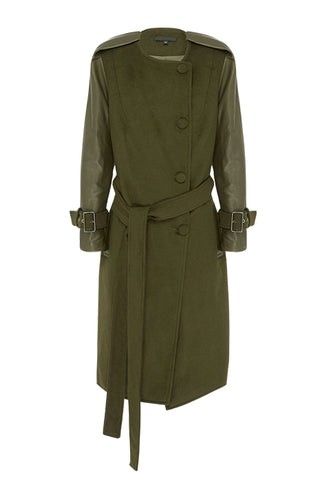 VERGLAS TRENCH in OLIVE | MADE-TO-ORDER