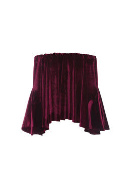 Isabella Top In Maroon Velvet