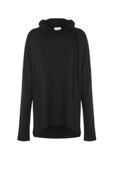 Rouge Drop Shoulder Turtle Neck In Black