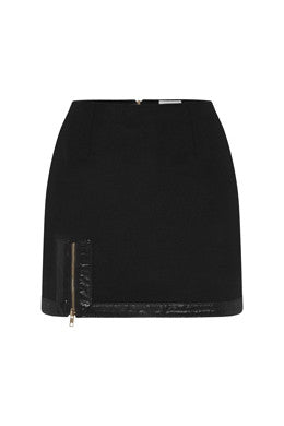 Exposed Mini Skirt In Black