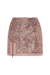 Exposed Mini Skirt In Pink Multi MADE-TO-ORDER