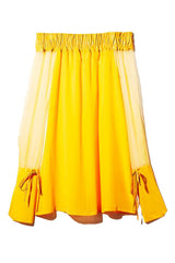 MARCIA OFF-THE-SHOULDER DRESS in YELLOW