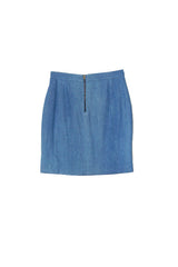 PLICATE SKIRT in DENIM