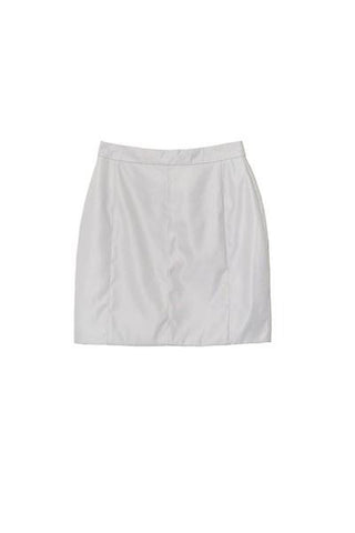 PLICATE SKIRT in LIGHT GREY