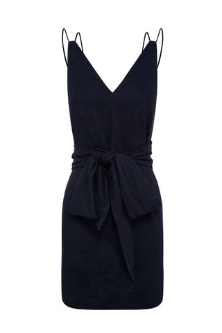 STREAMLINE VIE WRAP DRESS in NAVY