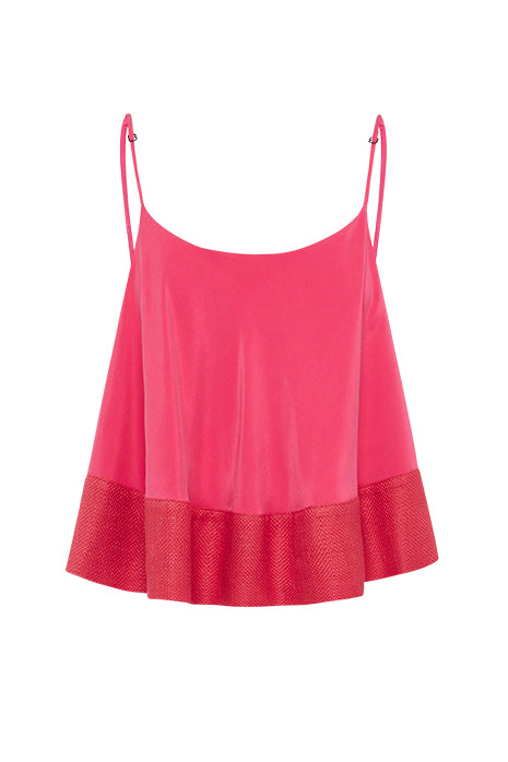WAVELENGTH CROP REVIVAL in PINK/CRIMSON MADE-TO-ORDER