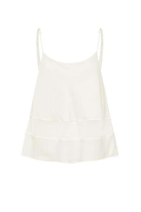 SUNRISE SINGLET in CREAM MADE-TO-ORDER