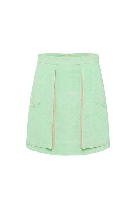 TETHERED PENCIL SKIRT in MINT