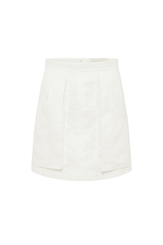 TETHERED PENCIL SKIRT in WHITE