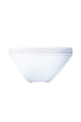 SHEER HORIZONTAL LOW BRIEF in WHITE
