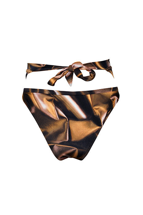 CRYSTAL SHEER HIGH-WAISTED BRIEF in BRONZE