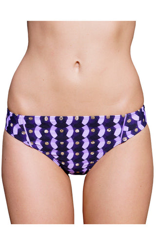 LOW BRIEF (BRAZILIAN CUT) in PURPLE SEQUINS