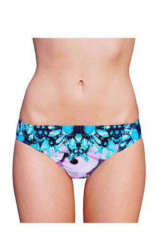 LOW BRIEF (BRAZILIAN CUT) in AQUA CRYSTAL
