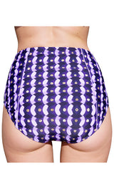 HIGH-RISE BRIEF (GREAT CUT) in PURPLE SEQUINS