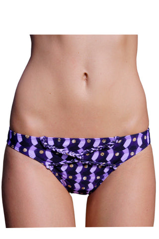 KHALEESY BRIEF in PURPLE SEQUINS