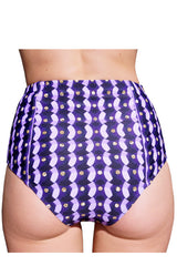 HIGH-RISE BRIEF (NORMAL CUT) in PURPLE SEQUINS