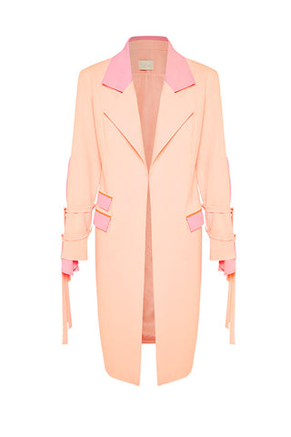 Pyramid Jacket In Light Pink MADE-TO-ORDER