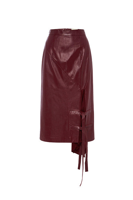 Pyramid Skirt In Maroon MADE-TO-ORDER