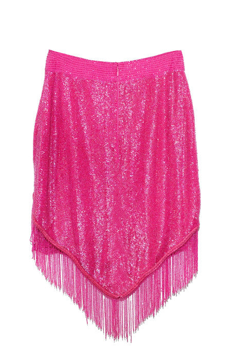 Cow Girl Triangle Beaded Mini Skirt