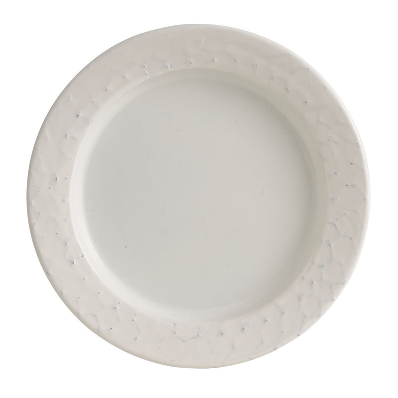White Etched Salad Plate
