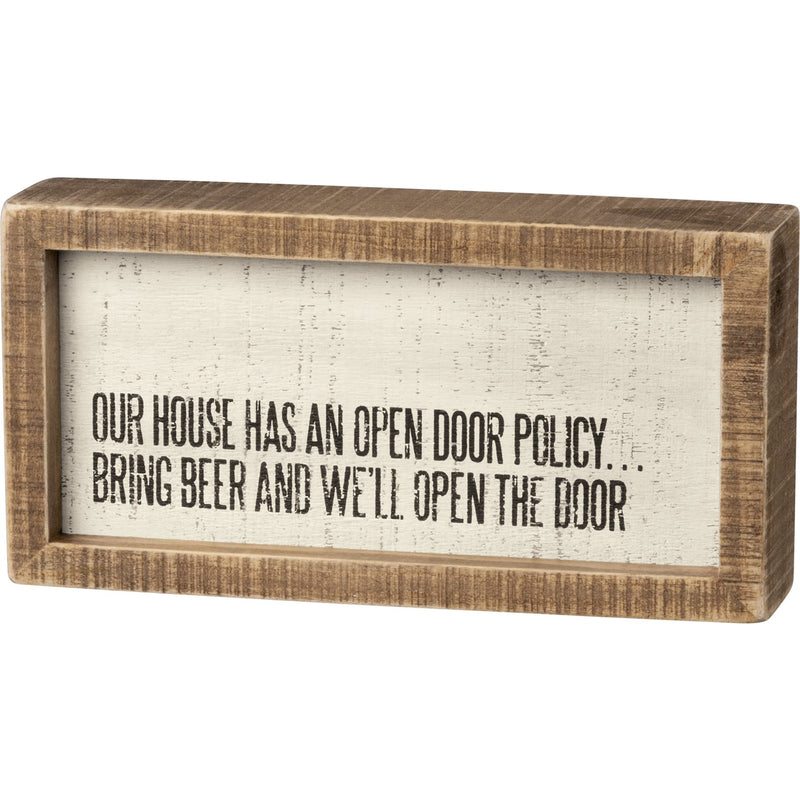 Bring Beer Block Sign