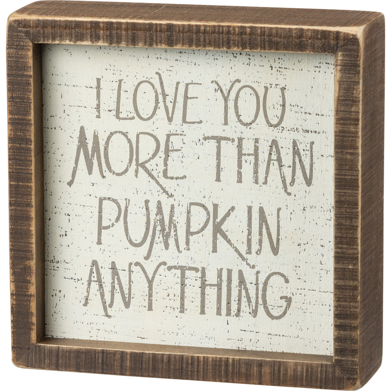 Pumpkin Anything Box Sign