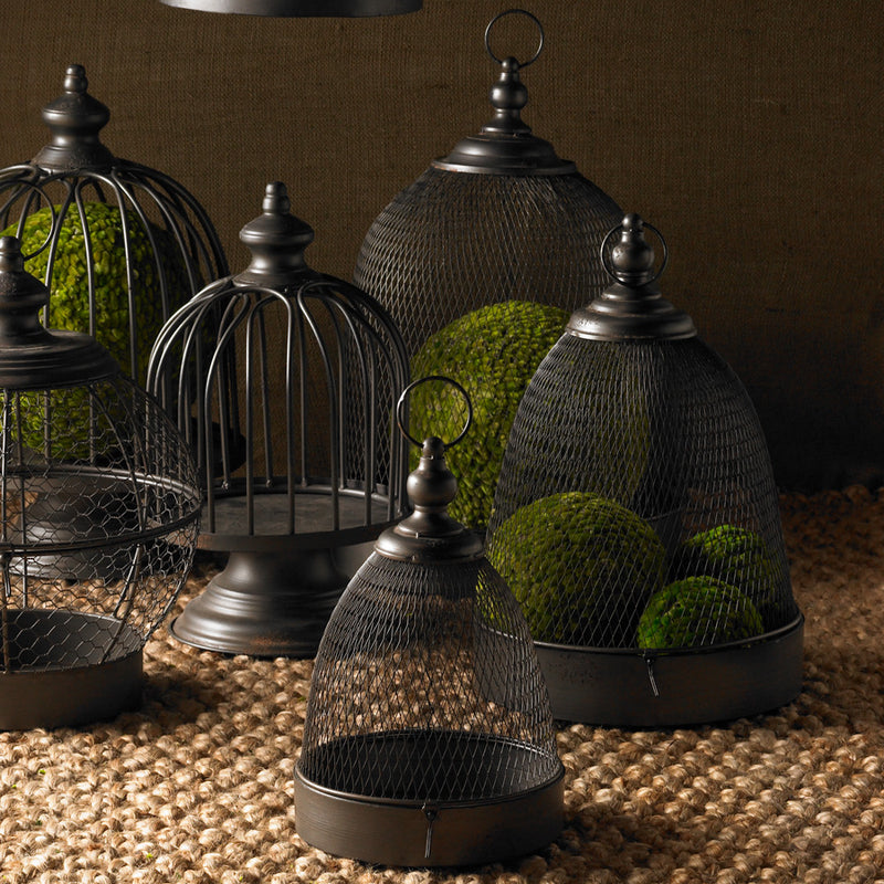 Metal Mesh Domes with Trays