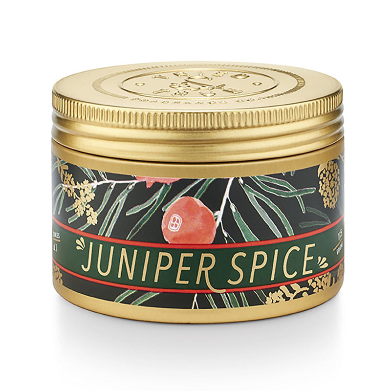 Juniper Spice Small Tin Candle