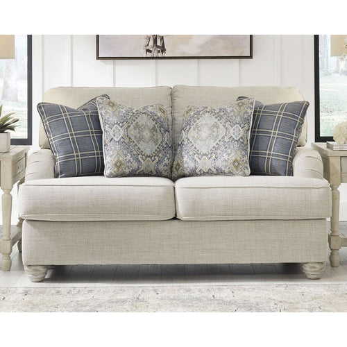 Cream Linen Loveseat