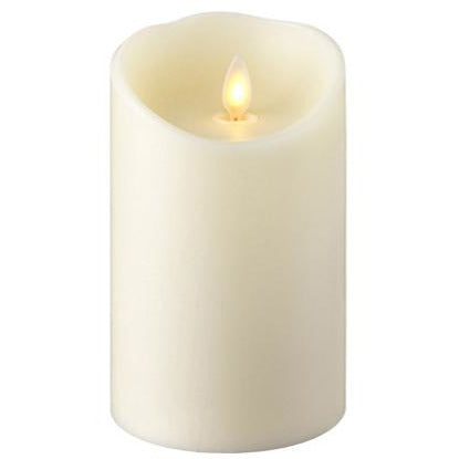 Ivory Push Flame Candle
