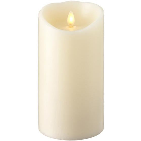 "4"" x 7.5"" Push Flame Ivory Candle"