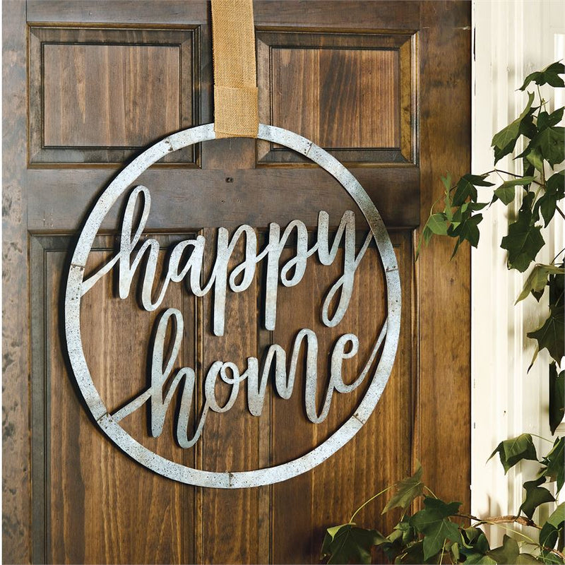 Happy Home Tin Door Hanger