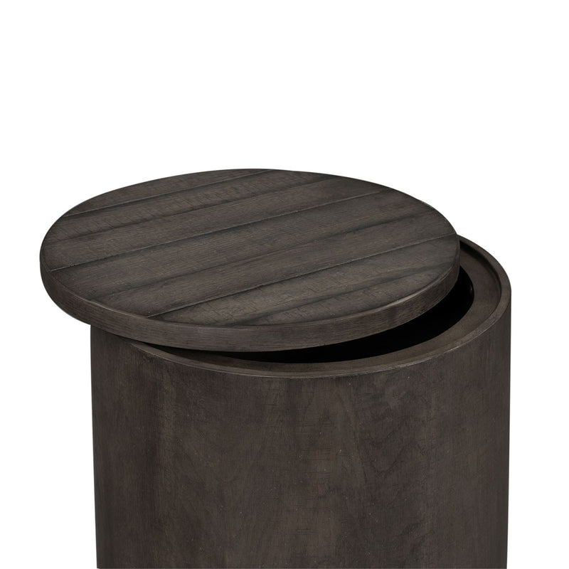 Modern Drum End Table