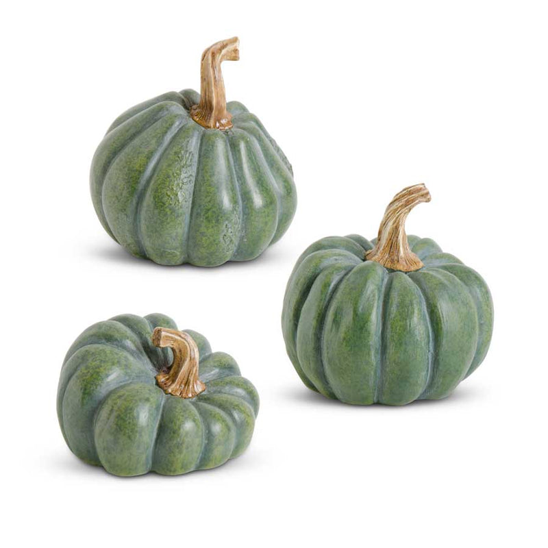 Small Green Resin Pumpkin