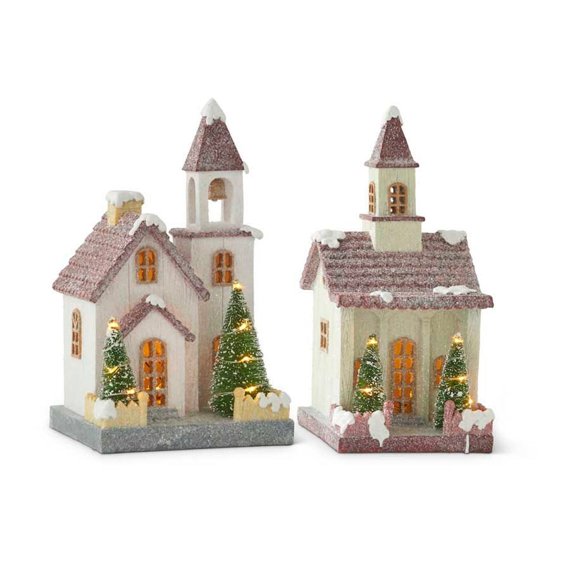 Resin Church with Red Roof