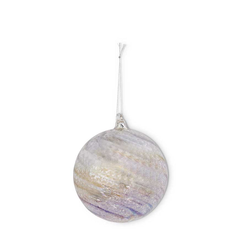 Silver Mercury Swirl Ornament