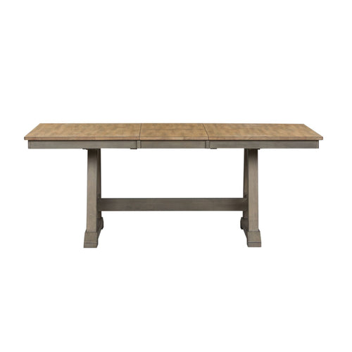 7 Piece Sandstone Trestle Table Set