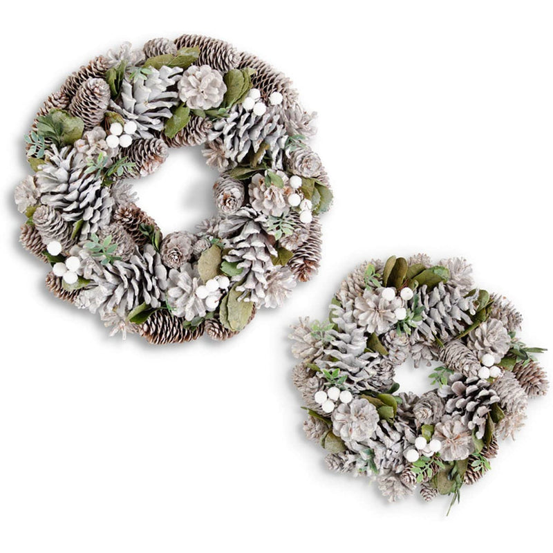 Whitewash Pinecone Wreath