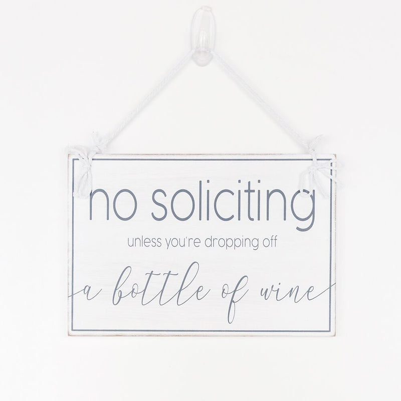 No Soliciting Door Hanger