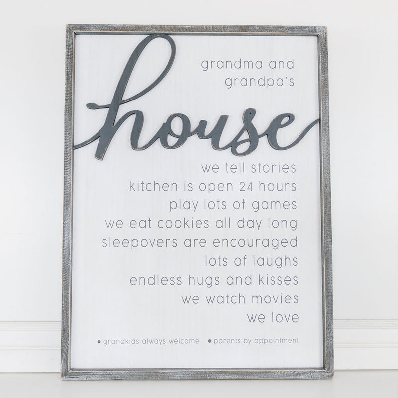 Grandparents Reversible Wooden Sign