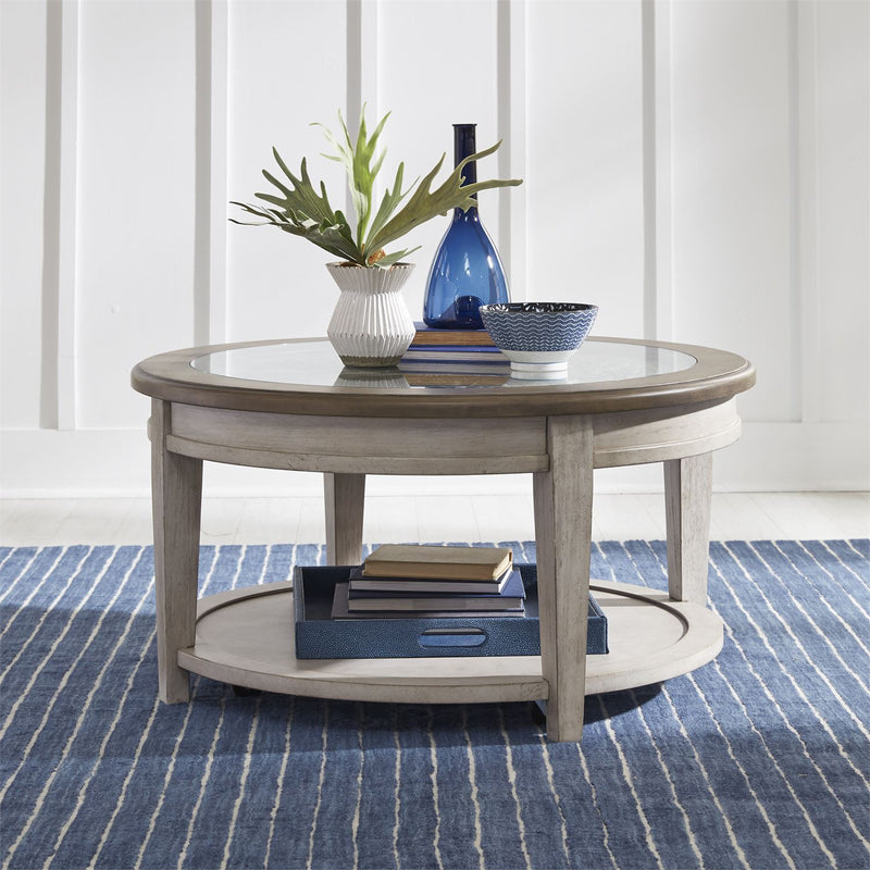 Round Tile Cocktail Table